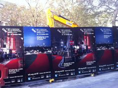 London photo of the day: construction work at the London Film Festival