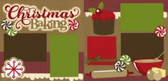 Christmas Baking Page Kit  Out on a Limb Scrapbooking