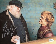 George Rr Martin+Peter Dinklage Hand Signed 8X10 Photo Game Of Thrones