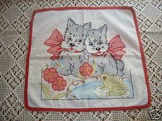 Vintage 1930's Vogart Scottie Dog Pillow Tinted SWEET! (07/18/2009)
