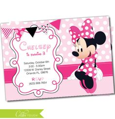 Minnie Mouse invitation Minnie Mouse Party Package Minnie