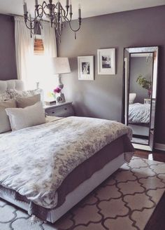 Master Bedroom On A Budget Bedroom Decor.Small Master Bedroom Makeover Ideas On A Budget 4 . Home and Family Small Master Bedroom, Dream Bedroom, Home Bedroom, Bedroom Furniture, Small Bedrooms, Girls Bedroom, Bedroom Sets, Pretty Bedroom, Guest Bedrooms