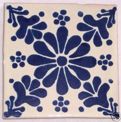 """12  Mexican Hand Painted Talavera Tiles 4"""" X 4"""" on Etsy, $19.47 CAD"""