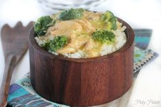 Creamy Chicken & Broccoli with Rice (Crock Pot) | I have limited grocery stores around here and changed up the recipe just a bit - 4 chicken breasts, 1 14.5 oz can chicken broth (reduced sodium), 1 10.75 oz can cheddar cheese condensed soup, 1 10.5 oz can cream of chicken condensed soup, 1 10.5 oz can cream of broccoli  condensed soup, then added some garlic salt and Tony's seasoning. Stay tuned.