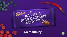 Go madbury and invent a new Cadbury! Choose three ingredients and create your own Cadbury Dairy Milk bar for the chance to see it in store.