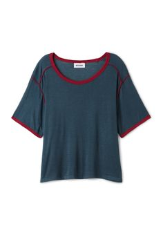 Weekday Ask T-shirt in Blue Dark