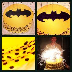 #batman #cake #yellow #black #bat #fondant #frosting #sugarbats #sugar #sweet #madebyme #dessert #cupcake #birthday #love #hubby #husband Black Bat, Yellow Black, Cupcake Birthday, Superhero Logos, Frosting, Fondant, Batman, Husband, Sugar