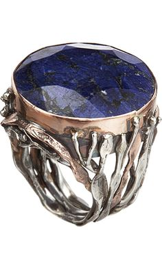Rings Ideas : SANDRA DINI Rough Sapphire Ring