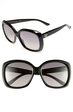 65e2e8b44a2 Gucci 57mm Sunglasses available at  Nordstrom Gucci Black