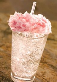 cotton candy drink You can make a Cotton Candy Shirley Temple by just topping up Lemon-Lime soda with Cotton Candy.