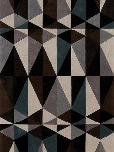 estampa geométrica em tapete