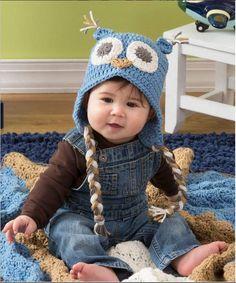 Adorable Owl Crochet Baby Hat   AllFreeCrochet.com