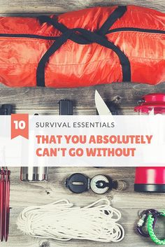 10 Survival Essentials That You Absolutely Can't Go Without - There are thousands of survival items out there. From knives to magnesium sticks and more, it can make a beginner feel completely overwhelmed. As a general rule of thumb, you want items that will allow you to get water, get food, stay warm, and provide you with shelter.