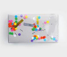 'shake-it' confetti wrap // by minieco