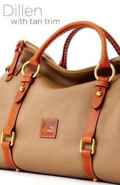 Dillen II with Tan trim embraces a sense of style and functionality with new styles and new colors. Check it out now at www.dooney.com