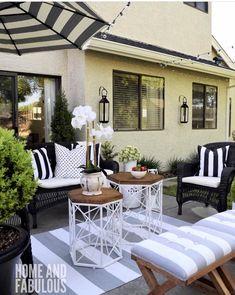 Beautiful backyard sitting area