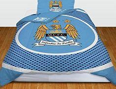 Manchester City F.C. Manchester City FC Bullseye Reversible Duvet Cover Set, Blue/White, Single No description (Barcode EAN = 5015860155697). http://www.comparestoreprices.co.uk/december-2016-week-1/manchester-city-f-c-manchester-city-fc-bullseye-reversible-duvet-cover-set-blue-white-single.asp