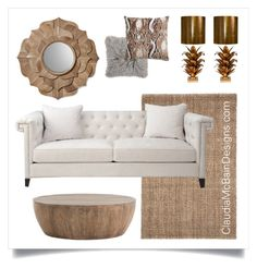Warm Golden Hue by claudiamcbain on Polyvore featuring polyvore, interior, interiors, interior design, home, home decor, interior decorating, Arteriors and Worlds Away