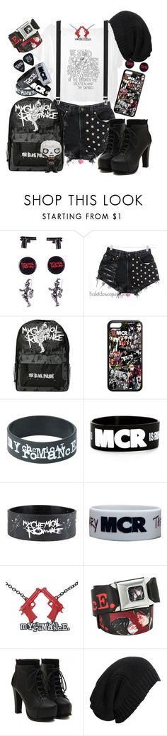 """My Chemical Romance"" by neverland-is-just-a-dream-away ❤ liked on Polyvore featuring Levi's and AllSaints"