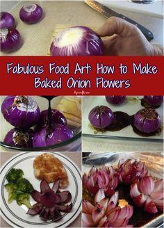 Fabulous Food Art: How to Make Baked Onion Flowers