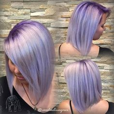 @Regrann from @sweetmelissagrace -  Violet metallic with a lavender root. #Regrann