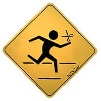 Running With Scissors Metal Sign - Plain Sign