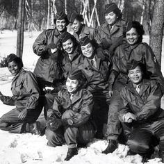 The 1st contingent of African-American WACs to go overseas. 2/2/45 at Camp Shanks, New York. www.worldwar2tours.com