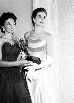 Natalie Wood and Grace Kelly,mid 50s.
