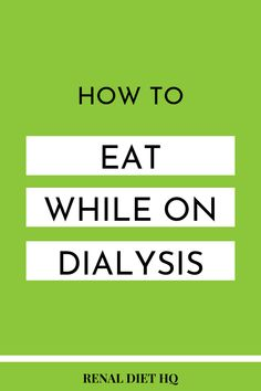 Want to know what to eat while following the renal diet on kidney dialysis? In this post, you'll learn what foods to eat and what to avoid when planning dialysis meals. Get great tips from a renal diet kidney dialysis dietitian and learn how you can get a kidney diet meal plan here! | Renal Diet Dialysis Education Tips | Dialysis Facts | Kidney Disease Diet Food List #dialysis #KidneyDisease #ChronicKidneyDisease #KidneyDiseaseDiet #RenalDiet Dialysis Diet, Kidney Dialysis, Renal Diet, Chronic Kidney Disease, Healthy Kidney Diet, Healthy Kidneys, Kidney Health, Kidney Foods, Healthy Eating