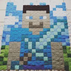 Minecraft Blanket – Free Pattern | Crochet | CraftGossip | Bloglovin'