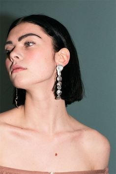 Leigh Miller - Sterling Silver Drip Earrings | BONA DRAG