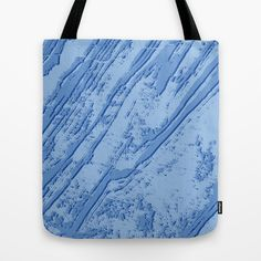 BLUE MARBLE EFFECT Tote Bag