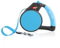 Wigzi LRGGLBL Gel Retractable Dog Leash for Dogs Upto 110 lb Large Blue >>> To view further for this item, visit the image link.(This is an Amazon affiliate link)
