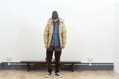 SNS Herning Black Noise Blend Naval Hat £45 Rocky Mountain Featherbed Tan Ripstop Down Jacket £600 Visvim Light Indigo Border Corporal Jacket £440 Rough & Tumble Multi Floral Patchwork LBD Shirt £229 Needles Olive Paisley Velveteen Climber Pant £285 Kapital Red Slub Pop Socks £30 Converse Black Chuck Taylor All Star 70's Ox £65