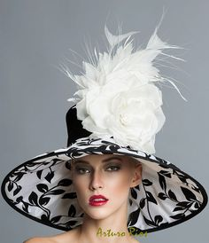 Black and white Derby Hat Kentucky derby Classic Hat by ArturoRios