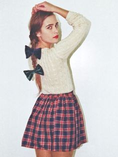 Yes, please! But diff. plaid skirt & looser, handtied hair ribbons.