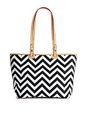 Dooney and Burke Black & White Chevron Tote.....  Just bought this with matching make-up and key chain.  YaY!