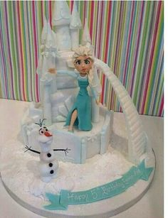 A Towering Frozen Cake B Day Cakes Cupcakes Amp Yummy