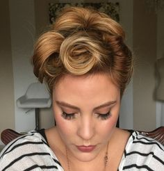 victory rolls vintage updo swirl and twirl