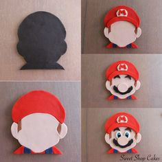 Super Mario fondant tutorial Mais