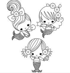 Cute Mermaid Coloring Page. Cute Mermaid Coloring Page. Cute Baby Mermaid Coloring Pages 2 by James Mermaid Coloring Pages, Cute Coloring Pages, Coloring Pages For Girls, Printable Coloring Pages, Coloring For Kids, Free Coloring, Coloring Books, Mandala Coloring, Adult Coloring