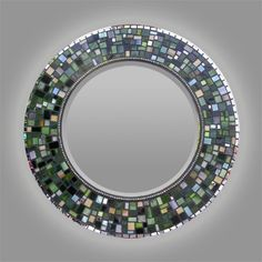 Mosaic Stained Glass Mirror by OlveraDesignMosaic on Etsy Stained Glass Mirror, Mirror Mosaic, Mosaic Art, Mosaic Glass, Mosaic Tiles, Glass Art, Mosaic Crafts, Mosaic Projects, Unique Mirrors