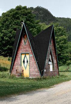 A frame cabin, Sainte-Rose du Nord, #Québec