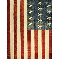 Tarkan Rug-Usa Flag