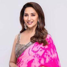 Kali Goddess, Madhuri Dixit, India Beauty, Indian Actresses, Bollywood, Tie Dye, Sari, Beautiful, Tops