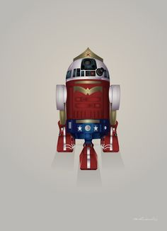 Starwars Droid R2-D2 Superheroes on Behance