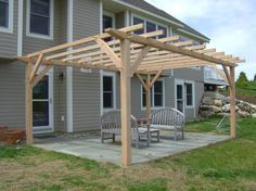 pergola attached to house - Google Search