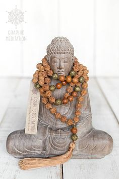 This long mala beads is made with natural rudraksha seeds and bayong wood. Each bead is individually hand knotted. Mala necklace is worn on the neck or left wrist while not in use. It may also serve as a nice accessory in everyday life or on some special occasions.  DETAILS: •