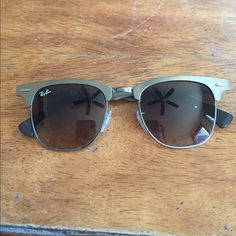 6541be9dd6b Clubmaster Aluminum Ray Bans Brown gradient Clubmaster aluminum Ray ban  sunglasses. Like new condition.