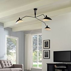 LexMod - View Ceiling Fixture in Black